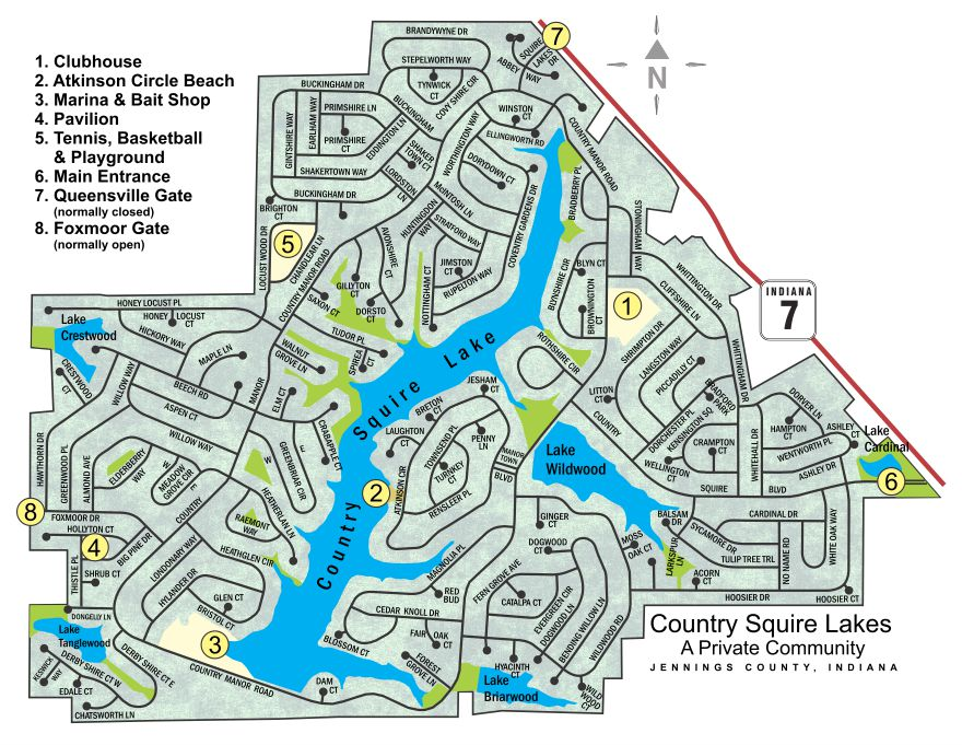 Country Squire Lakes Street MapGates